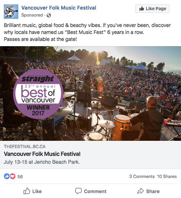 Vancouver Folk Music Festival - Murray Paterson Marketing Group
